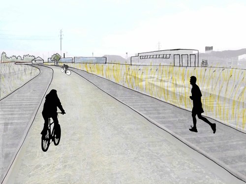 Rails-to-Trails Bike Path: perspective