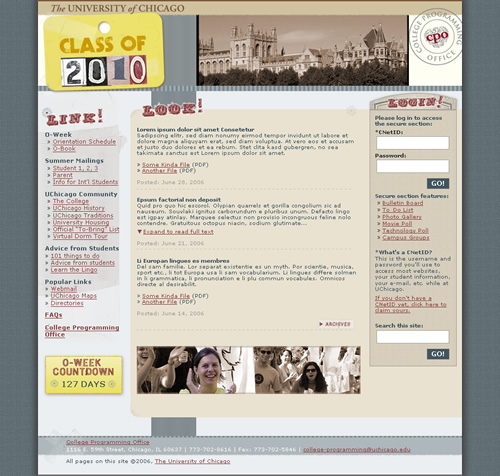UChicago Class of 2010: home page