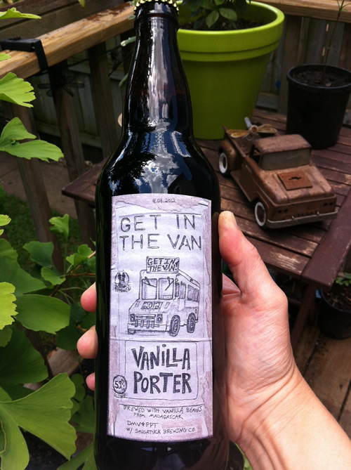Bottle of 'Get in the Van' beer