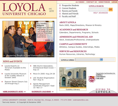 Loyola University Chicago: home page