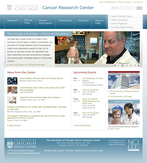 UChicago Cancer Research Center: home page