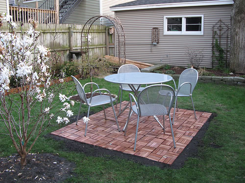 Wood Tile Patio Wood Tile Patio Wood Tile Patio: After ...